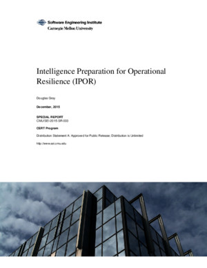 Intelligence Preparation for Operational Resilience (IPOR)