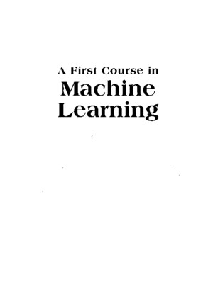 A First Course in Machine Learning - Rogerspdf